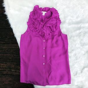 J.Crew Purple Silk Blouse Top